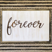 "Forever - Thin - 18"" Rusty Metal Script Sign"