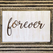 "Forever - Thin - 24"" Rusty Metal Script Sign"