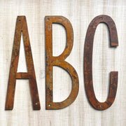 Rustic Metal Letters / Large