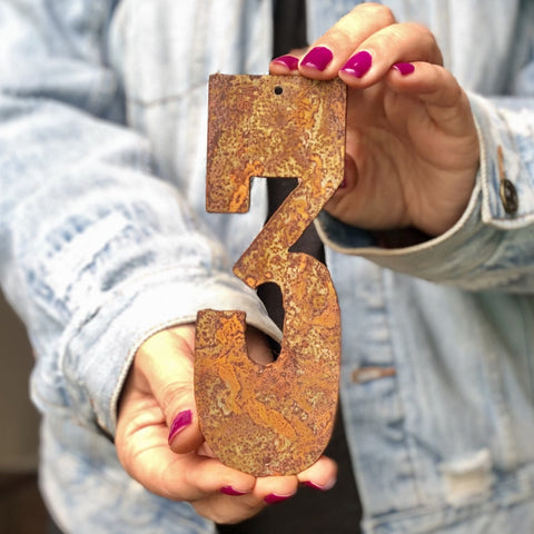 "6"" Rusty, Rusted, Rustic Metal Numbers - Make your own Sign, Gift, Art"