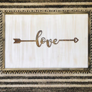 "Love - 18"" Rustic Metal Boho Arrow"