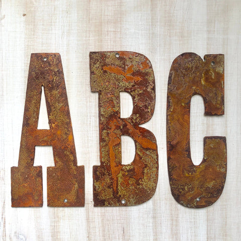 "6"" Rusty, Rustic, Rusted Metal Letters - Make your own Sign, Gift, Art"
