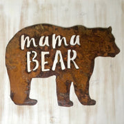 "Mama Bear - 6"" Rusty Metal Mama Bear"