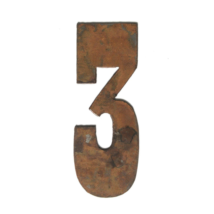 "Farmhouse Rusty Metal Numbers / 4"" to 8"""