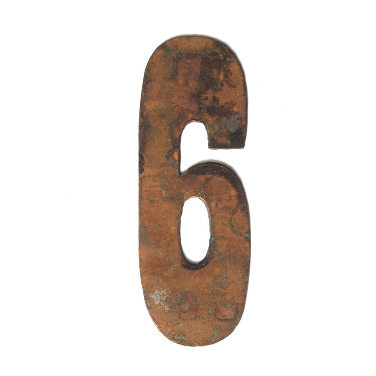"Farmhouse Rusty Metal Numbers / 12"" to 24"""