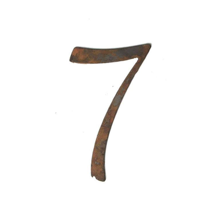 "Serif Rusty Metal Numbers / 12"" to 24"""