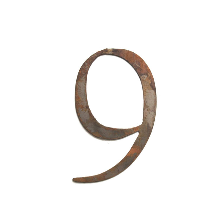 "Serif Rusty Metal Numbers / 4"" to 8"""