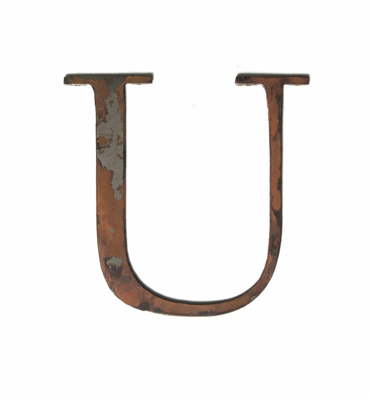 "Serif Rusty Metal Letters / 12"" to 24"""