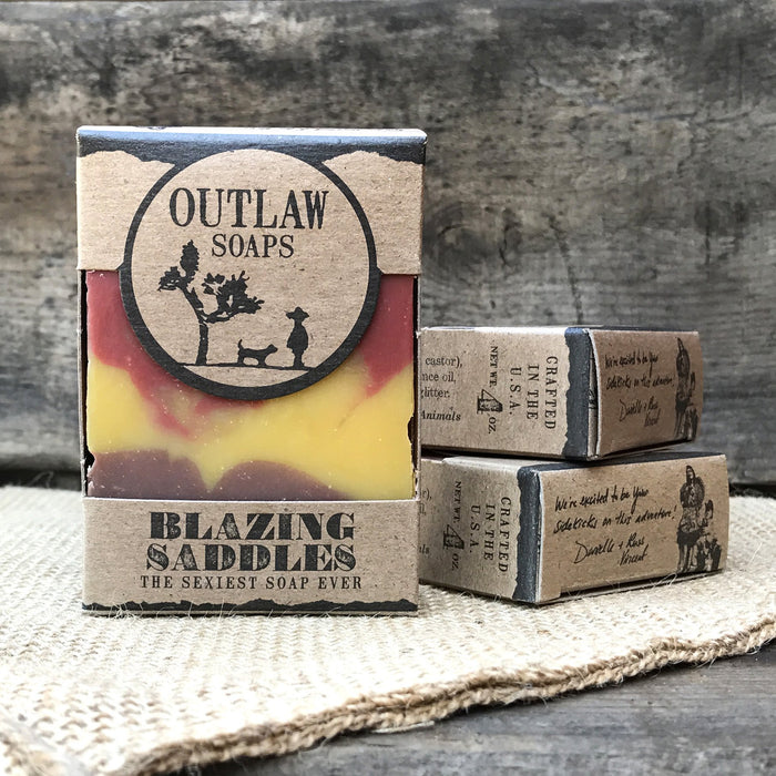 Blazing Saddles Soap: the leather-scented, western-inspired handmade soap for everyone