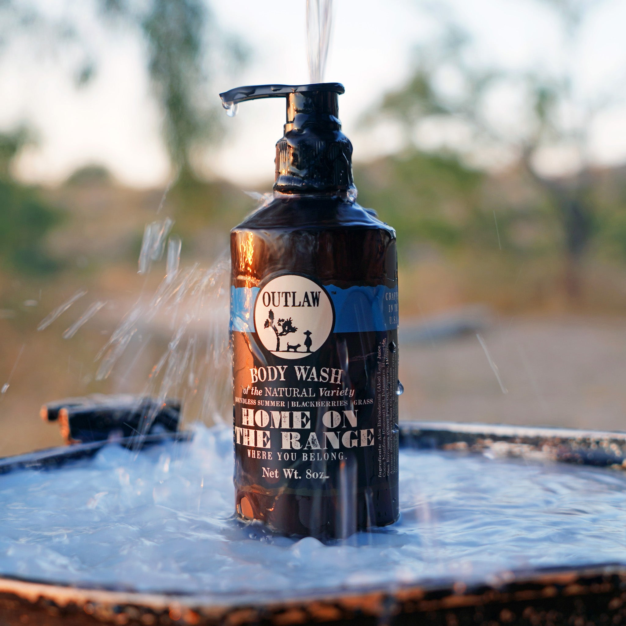 Outlaw mens and womens body wash