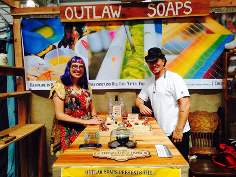 outlaw soaps handmade soap at Renegade Craft fair SF