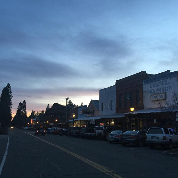 Colfax, California at Dusk