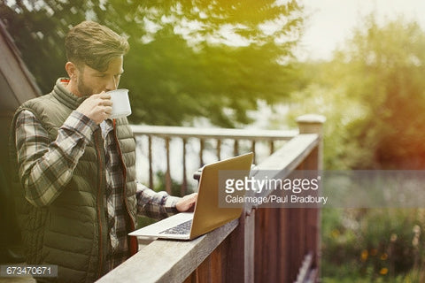 stock photos of people on decks drinking coffee