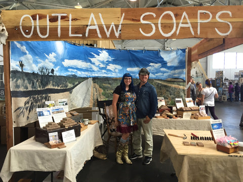 Outlaw Soaps at Renegade Craft Fair in SF