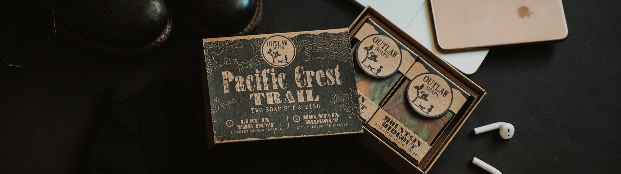 pacific crest trail natural handmade soap set father's day