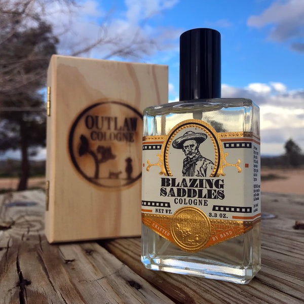 Western leather scented spray cologne in a gift box
