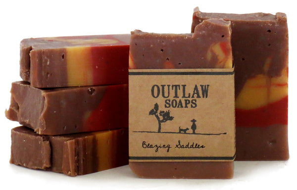 blazing saddles western soap