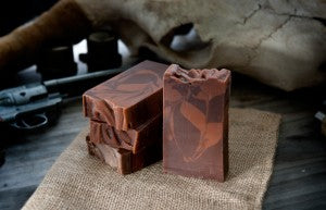 Hair of the Dog whiskey soap with coffee