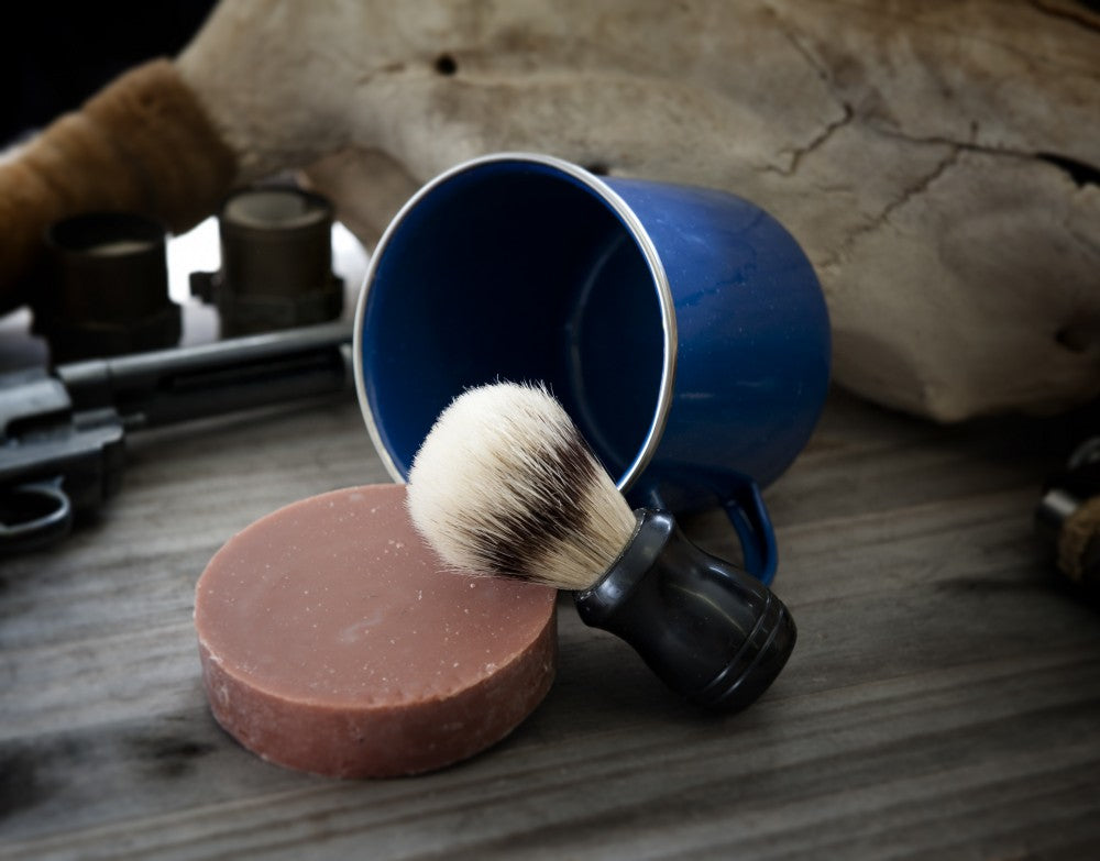 Leather and Sandalwood Shaving Kit