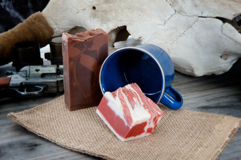 Outlaw's Breakfast with Bacon and Whiskey Coffee Soap (hair of the dog)