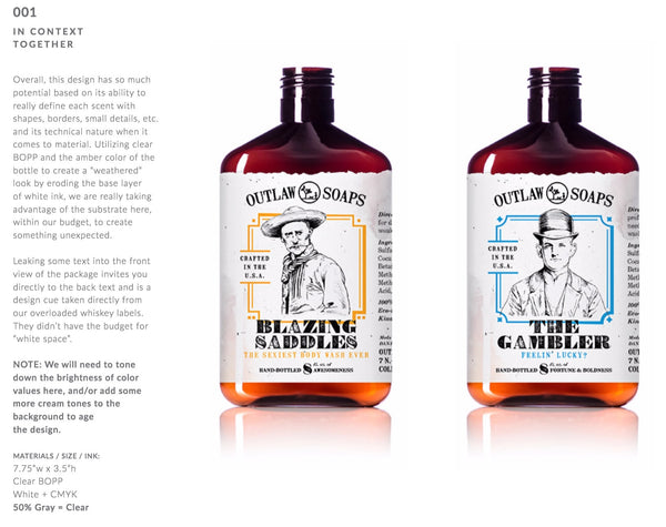 Design for body wash labels