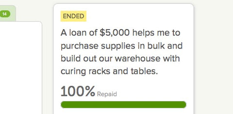kiva loan repaid in full!