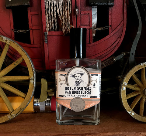 Blazing Saddles leather gunpowder sandalwood cologne
