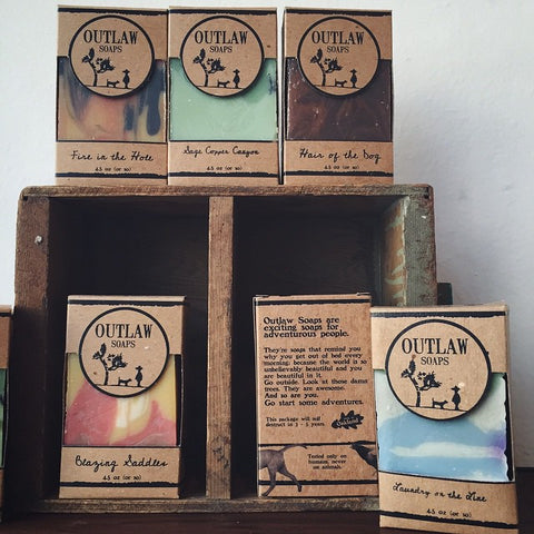 Outlaw Soaps at Marion and Rose's workshop in Oakland Ca