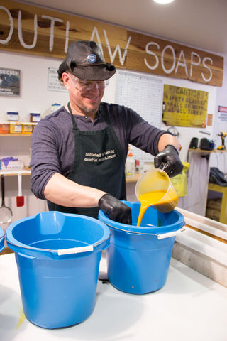 Russ making soap