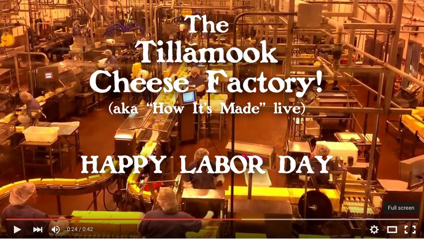 Tillamook Cheese Factory Video Tour
