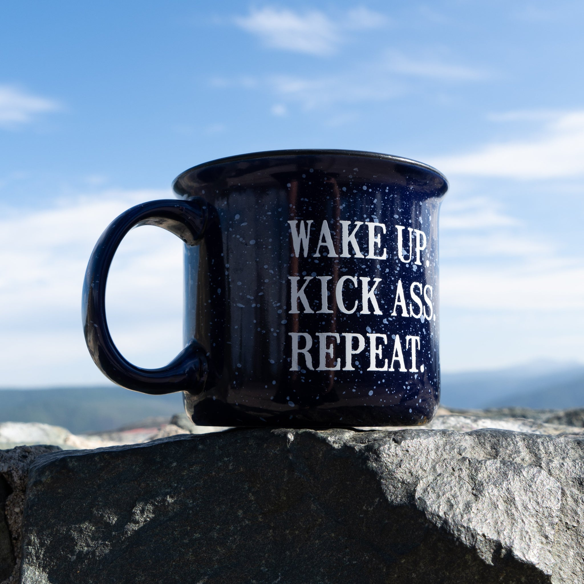 Outlaw Soaps Mug Other Stuff Wake Up. Kick Ass. Repeat.