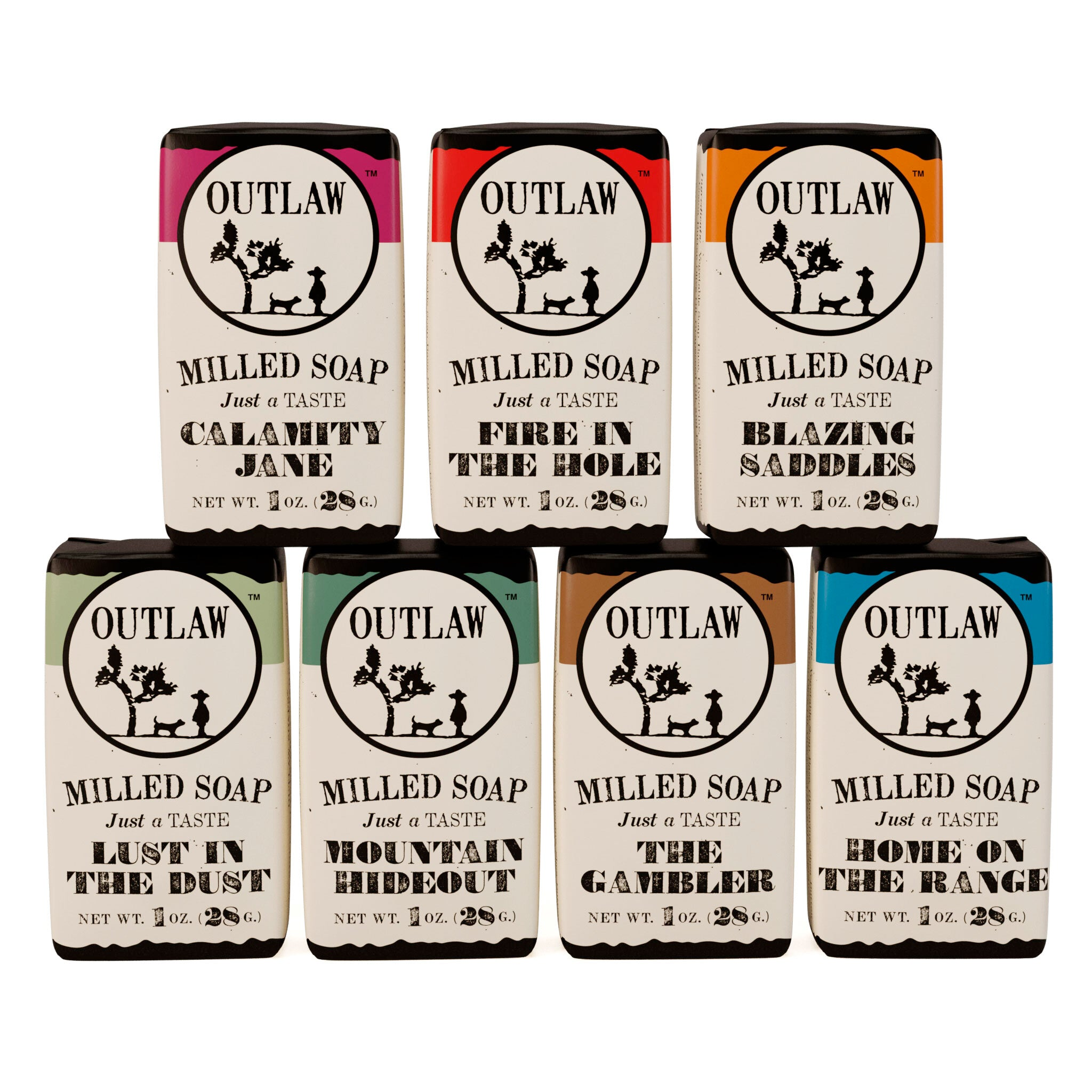 Milled Soap Sample Set: 7-Pack of our Most popular Scents