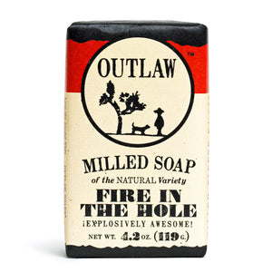 Fire in the Hole Campfire Milled Bar Soap Milled Bar Soap Explosively Awesome: Campfire | Gunpowder | Sagebrush | Excitement!