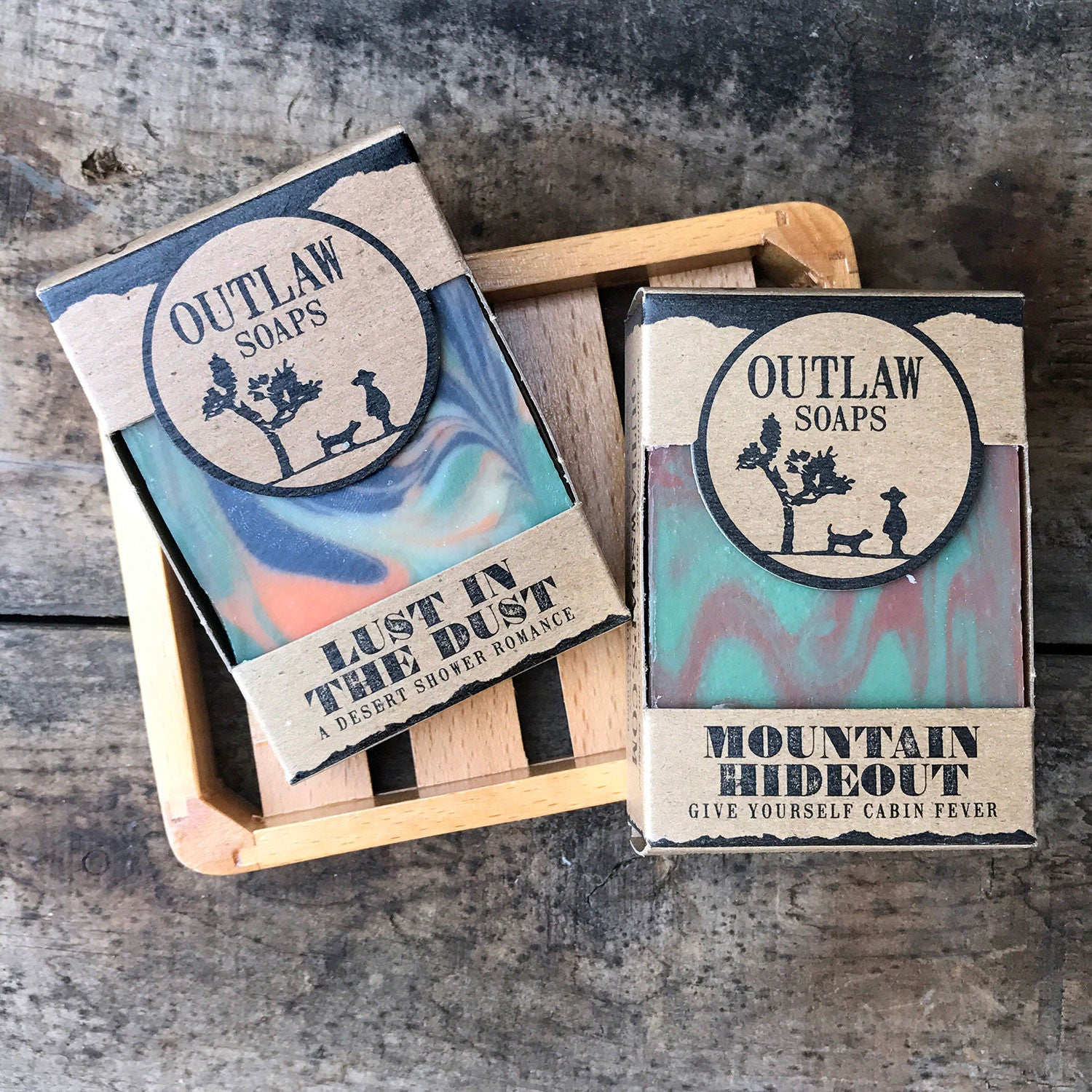 Pacific Crest Trail Adventure Soap Set - Outlaw Soaps Western Soap and Lotion for Lovers of the Wild West