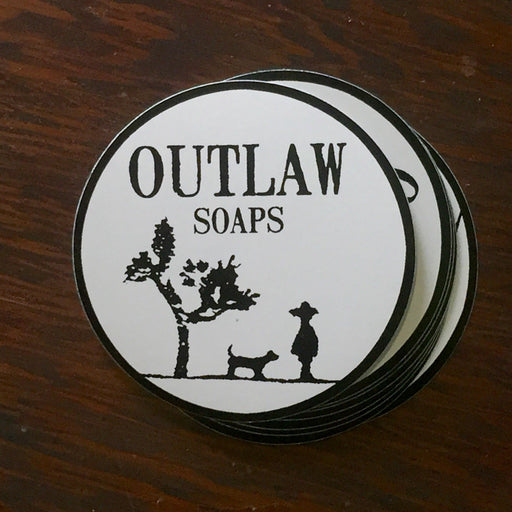 Outlaw Soaps Logo Sticker - Outlaw Soaps Western Soap and Lotion for Lovers of the Wild West