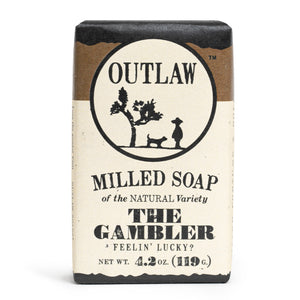 The Gambler Whiskey Milled Bar Soap Milled Bar Soap Wash Yourself Awake: Bourbon, | Tobacco | Leather