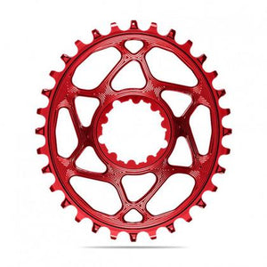 Absolute Black Oval MTB Chainring (Red)