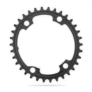 absoluteBLACK 2x 110/4 BCD Road Oval Chainring (Black)