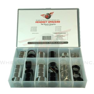 Wheels Manf. 1-1/8inch Tall Stack Headset Spacer Kit