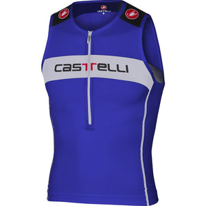 Castelli Core Tri Top (Surf Blue/White)