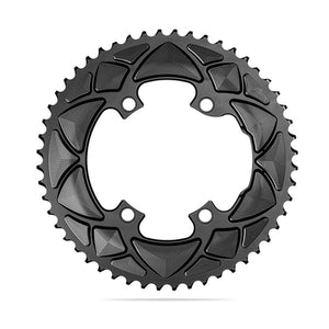 absoluteBLACK 2x 110/4 53T Road Round Chainring (Black)