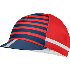 Castelli Free Kit Cycling Cap (Red/China Blue)