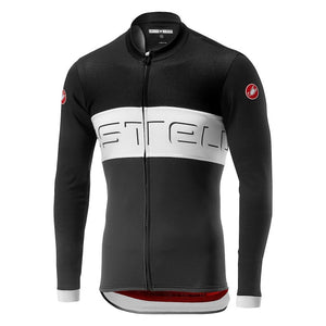 Castelli Prologo VI Long Sleeve Jersey (Black/Ivory/Dark Grey)