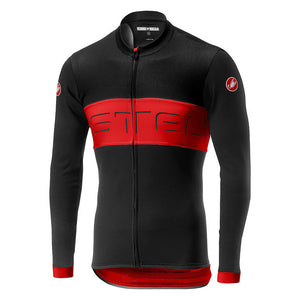 Castelli Prologo VI Long Sleeve Jersey (Black/Red/Black)