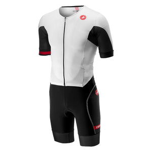 Castelli Free Sanremo Suit Short Sleeve (White/Black)