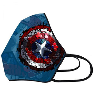 Airific Marvel Anti Viral and Pollution Mask (Captain America Shield)