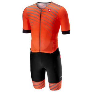 Castelli Free Sanremo Suit Short Sleeve (Orange)