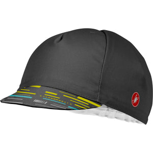 Castelli Tr Cycling Cap (Dark Gray/Yellow Fluo)