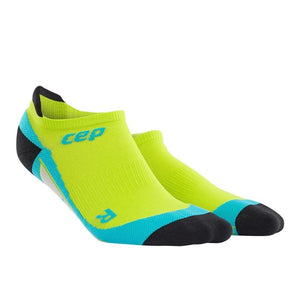 CEP Compression Dynamic+ No Show Socks (Lime/Hawaii Blue) - BumsOnTheSaddle