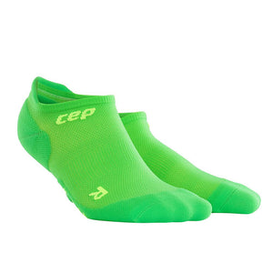 CEP Compression Dynamic+ Ultralight No Show Socks (Viper/Green) - BumsOnTheSaddle